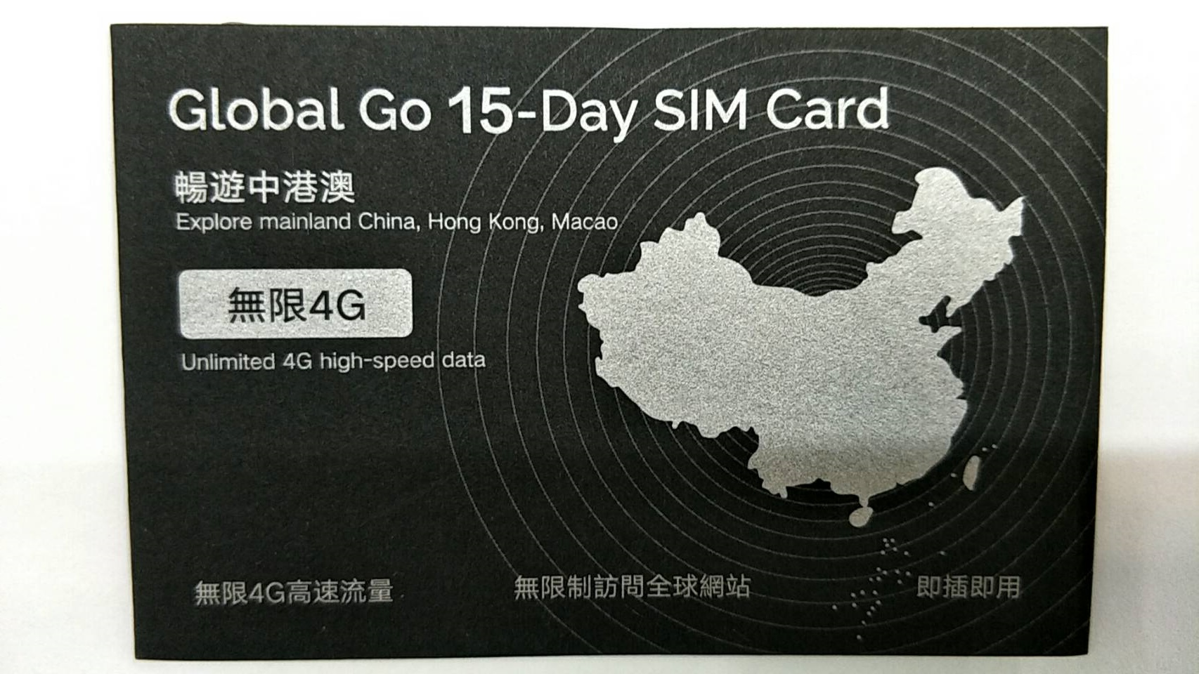 CMI China 15-day data card