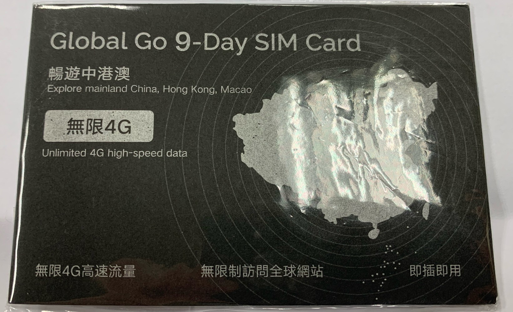 CMI China 9-day data card